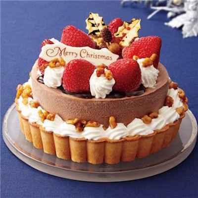33クリスマスタルトアイスケーキ チョコ&バニラ