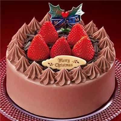 12苺のチョコレートケーキ5号