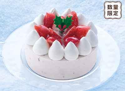 28【アイスケーキ】セリア・ロイル 苺と豆乳のアイスデコレーション