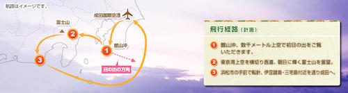 成田発飛行ルート