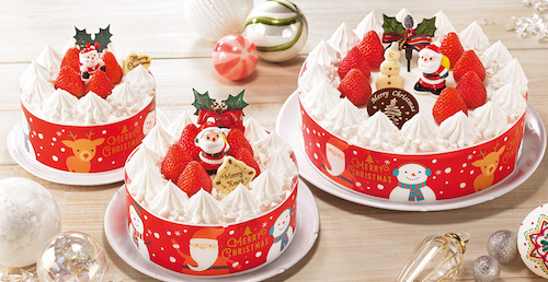 ヤマザキ クリスマス生ケーキ(4号、5号、7号)