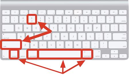 MacUSキーボードのハッシュタグの出し方