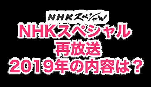 nhkスペシャル再放送。2019年の内容は?