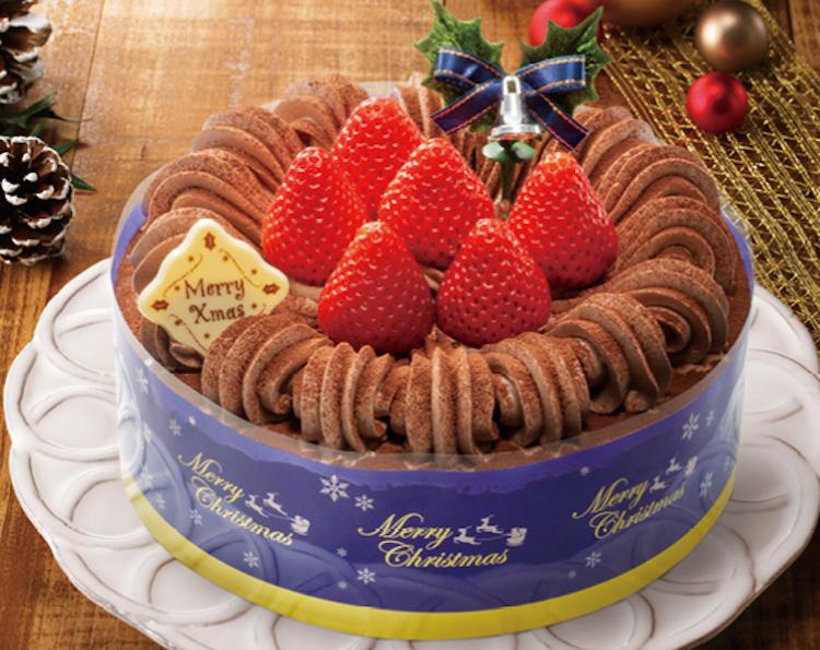 苺のチョコケーキ